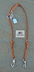 Harness Leather One-Ear Headstall w/ Snap Bit Ends